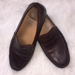 Cole Haan pinch penny loafers in Brown